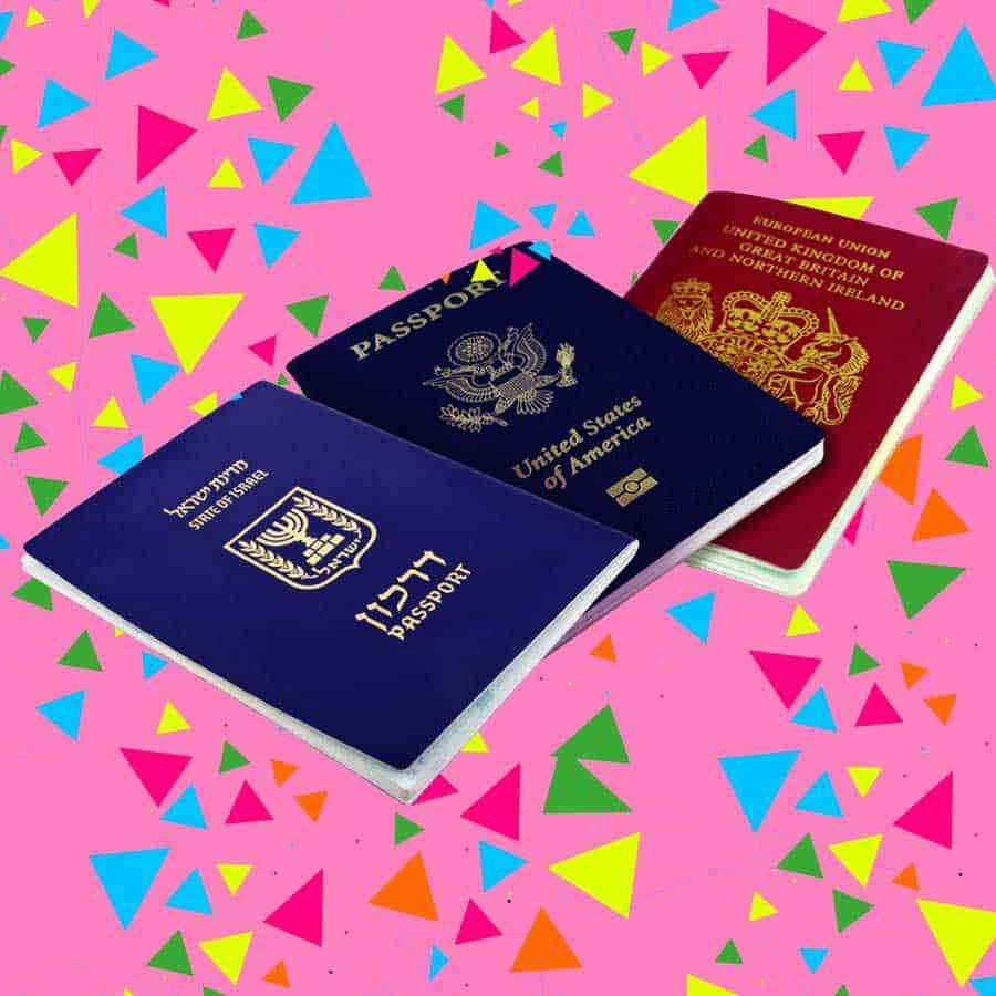 כיסוי לדרכון | כיסוי לדרכון עם שם | כיסוי דרכון | כיסוי דרכון מעוצב
